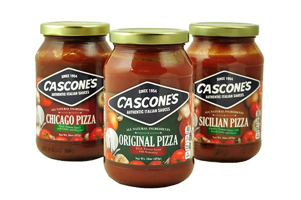 Trio of Cascone's Pizza Sauce Jars