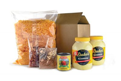 Kit contents for Paris Brothers Specialty Foods' cheese spread prorgam