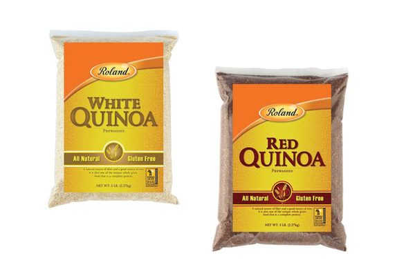 Two bags of Roland quinoa