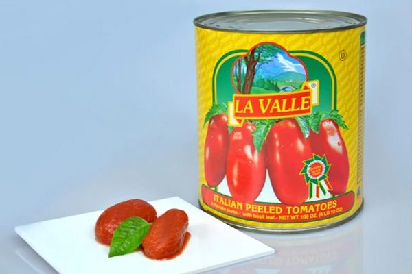 Food service can of La Valle Italian Peeled Tomatoes
