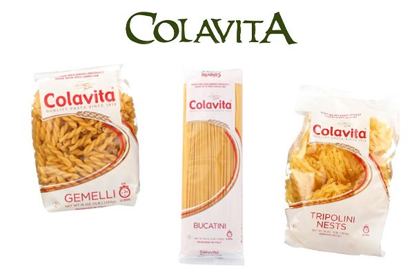 Retail packages of Colavita pasta